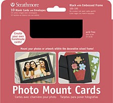 STRATHMORE STRATHMORE PHOTO MOUNT CARDS BLACK 10/PK