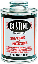 UNION RUBBER BESTINE SOLVENT AND THINNER 4OZ