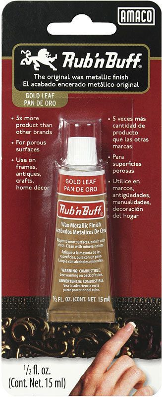 AMACO RUB N BUFF GOLD LEAF 15ML    AMA-76361A