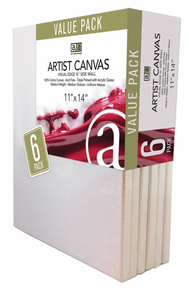 ART ADVANTAGE ART ADVANTAGE STRETCHED CANVAS BULK 11X14 6/PK