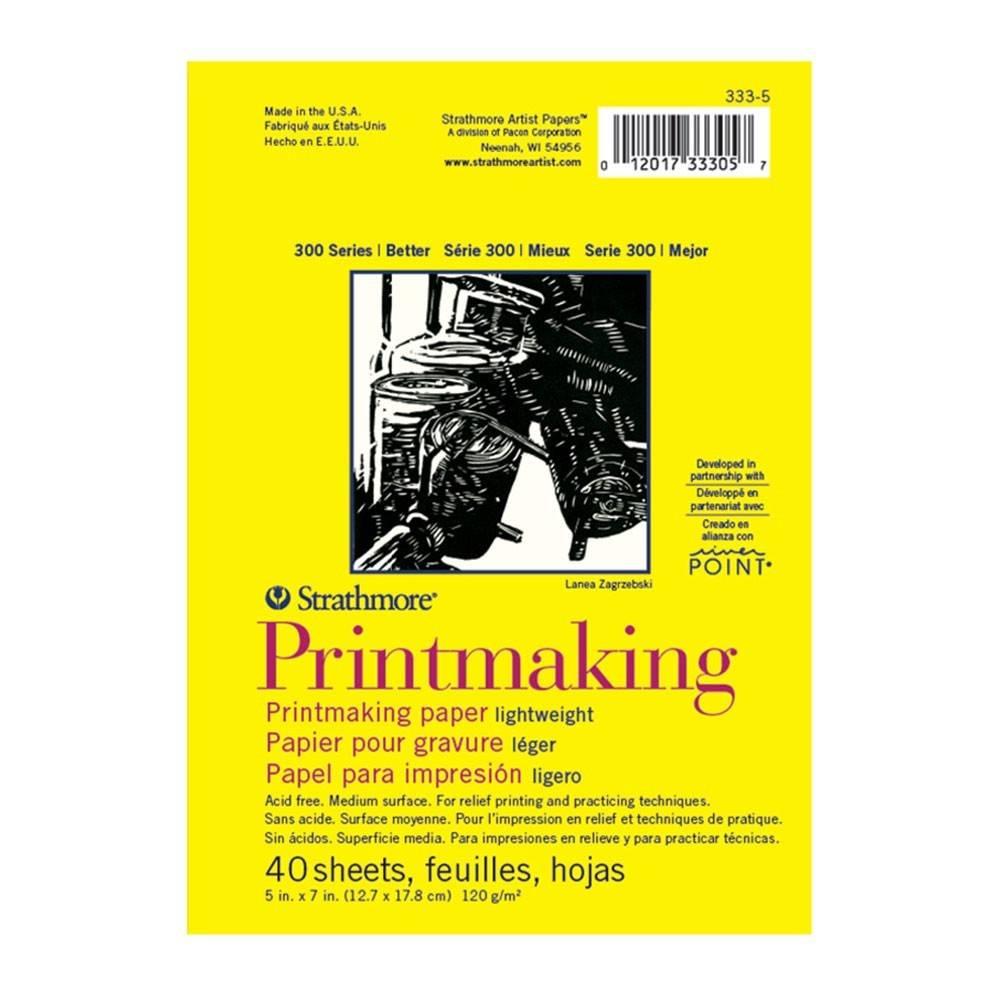 STRATHMORE STRATHMORE SERIES 300 PRINTMAKING PAPER 5X7 LIGHTWEIGHT 40SHT   333-5