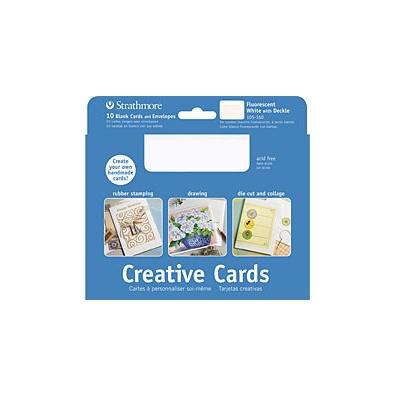 STRATHMORE STRATHMORE CREATIVE CARDS WHITE W/ WHITE EDGE 5X7 20/PK