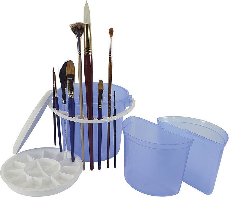 ART ADVANTAGE ART ADVANTAGE DELUXE BRUSH WASH BUCKET WITH REMOVABLE INNER BASIN