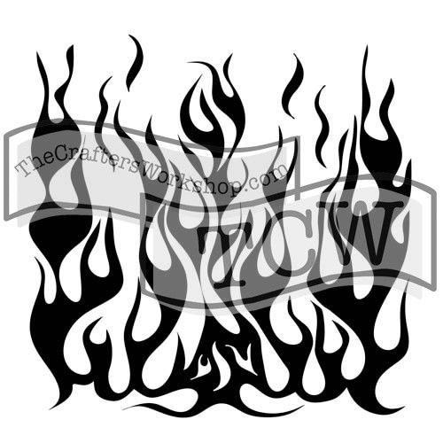 TEMPLATE TCW258S 6X6 FLAMES