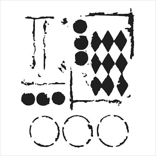 TEMPLATE TCW459 12X12 HARLEQUIN CIRCLES