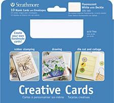 STRATHMORE STRATHMORE CREATIVE CARDS 5X7 FLUORESCENT WHITE 10/PK   105-160