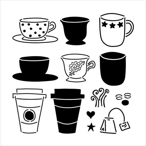 TEMPLATE TCW434 12X12 CAFFE LATTE
