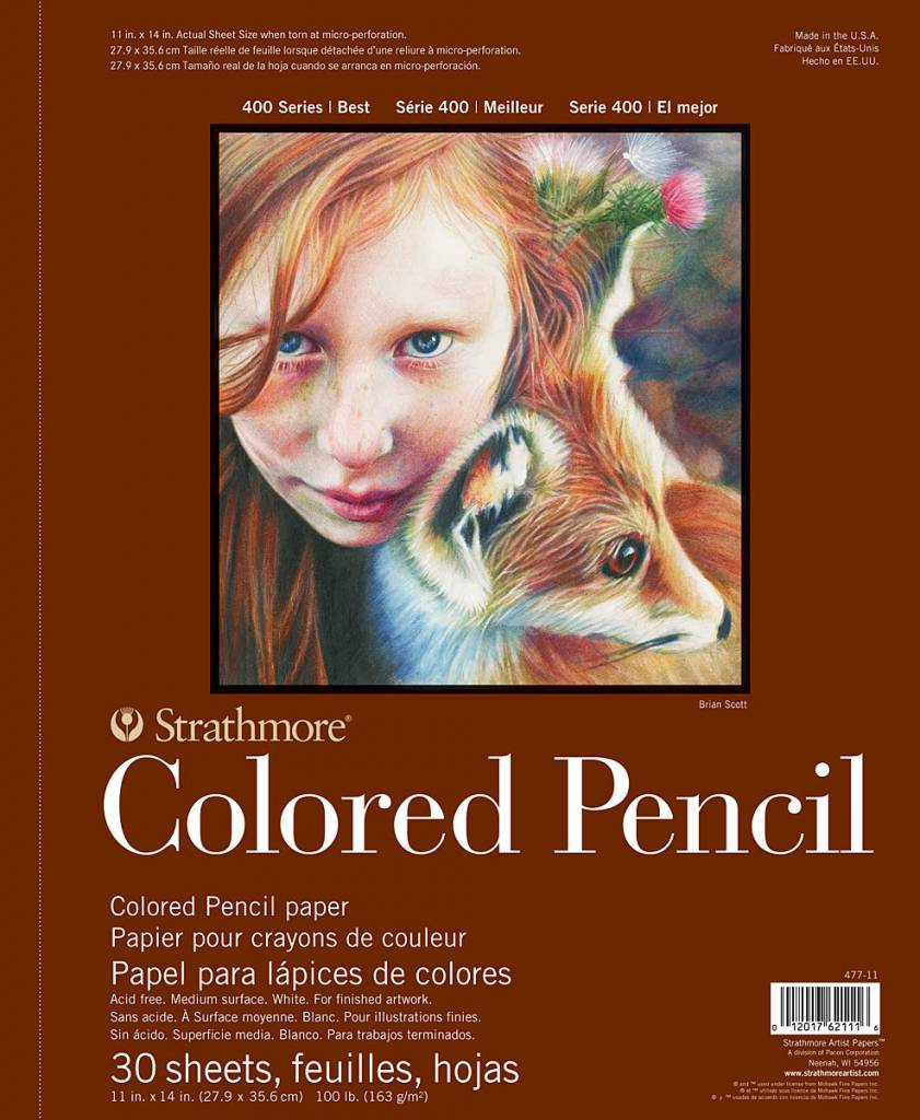 STRATHMORE STRATHMORE COLORED PENCIL PAD 11X14 SIDE COIL    STR-477-11