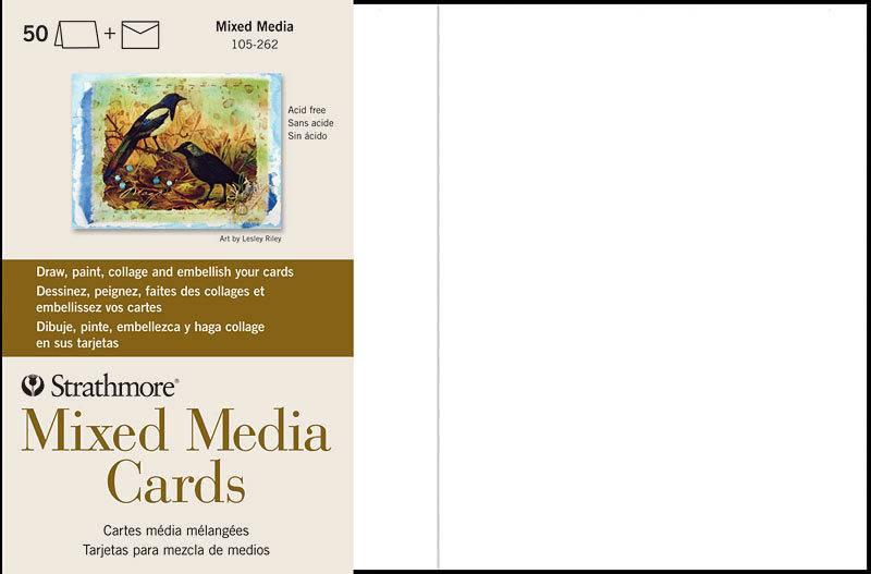 STRATHMORE STRATHMORE MIXED MEDIA CARDS 5X8.67 50/PK