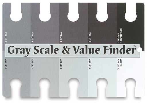 COLOR WHEEL COMPANY GRAY SCALE / VALUE FINDER