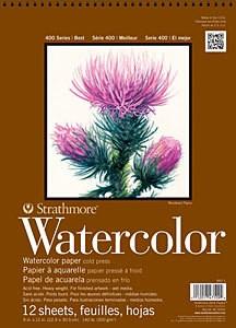 STRATHMORE STRATHMORE 400 SERIES WATERCOLOUR PAD 140LB CP 15X22    440-4