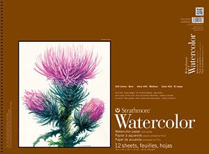 STRATHMORE STRATHMORE 400 SERIES WATERCOLOUR PAD 140LB CP 18X24    440-5