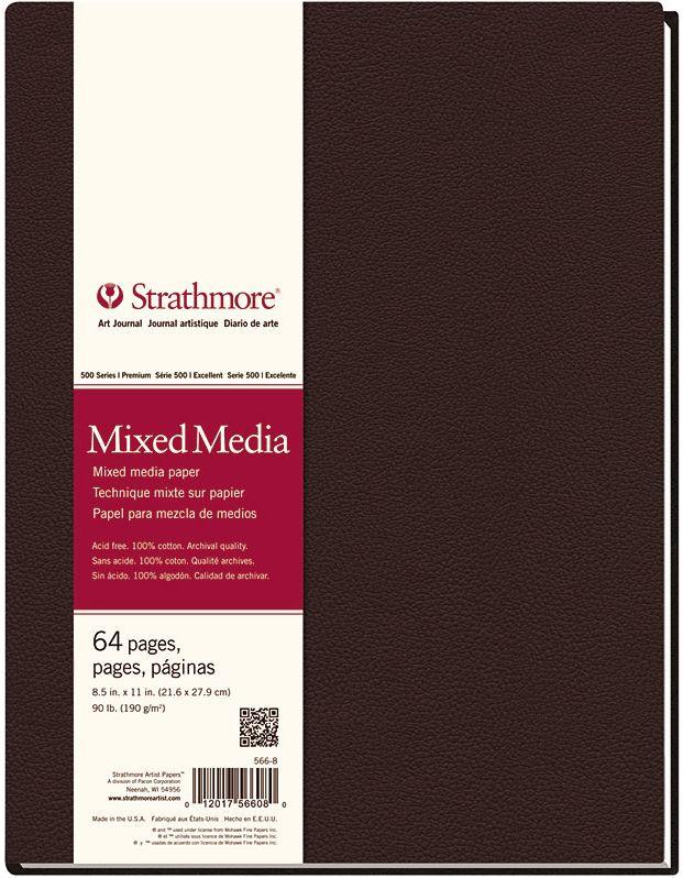 STRATHMORE STRATHMORE ART JOURNAL MIXED MEDIA HARDBOUND 8.5X11  90LB    STR-566-8