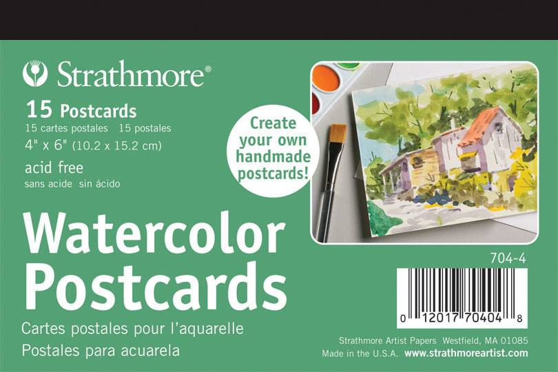 STRATHMORE STRATHMORE WATERCOLOUR POSTCARDS 4X6 15/PK    704-4
