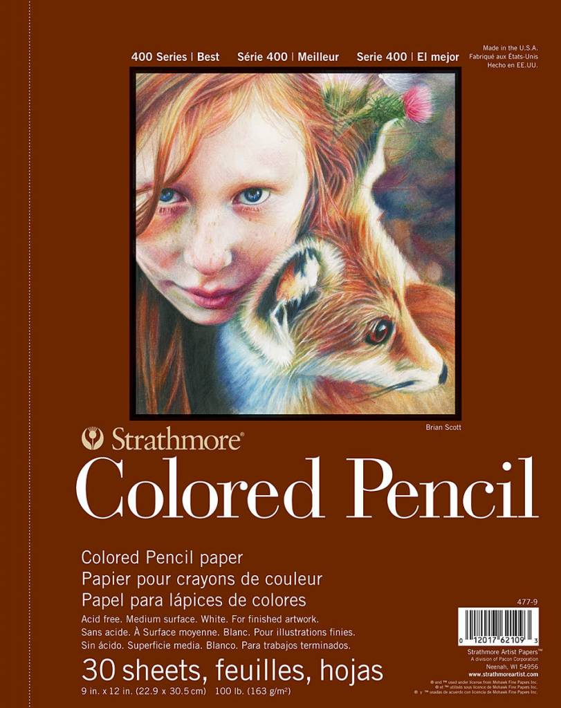 STRATHMORE STARTHMORE COLORED PENCIL PAD 9X12 SIDE COIL  STR-477-9