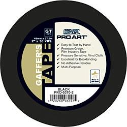 PRO ART PRO ART GAFFERS TAPE BLACK 2''X30YD