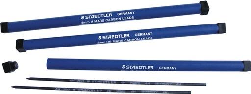 STAEDTLER STAEDTLER MARS CARBON LEAD REFILL 2MM 2/PK