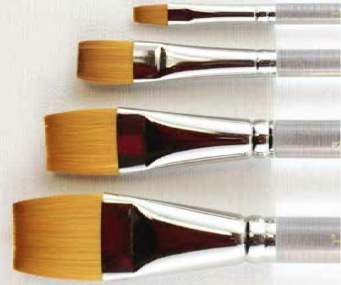 HEINZ JORDAN HEINZ JORDAN BRUSH SERIES 850 GOLD SABLE FLAT STROKE 1""