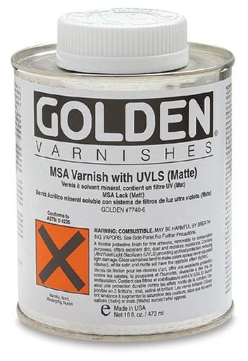GOLDEN GOLDEN MSA VARNISH W/ UVLS GLOSS 4OZ