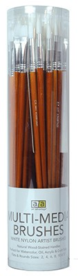 ART ADVANTAGE ART ADVANTAGE BRUSH SET/72 WHITE NYLON LONG HANDLE