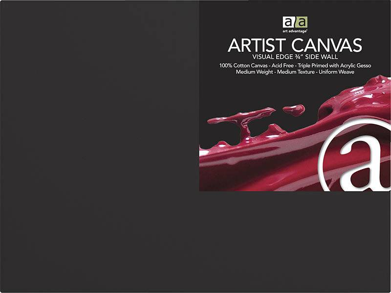 ART ADVANTAGE ART ADVANTAGE ARTIST CANVAS BLACK 12X16