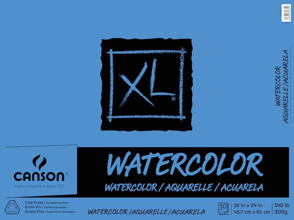 CANSON CANSON XL WATERCOLOUR PAD 140LB TAPE BOUND  30/SHT
