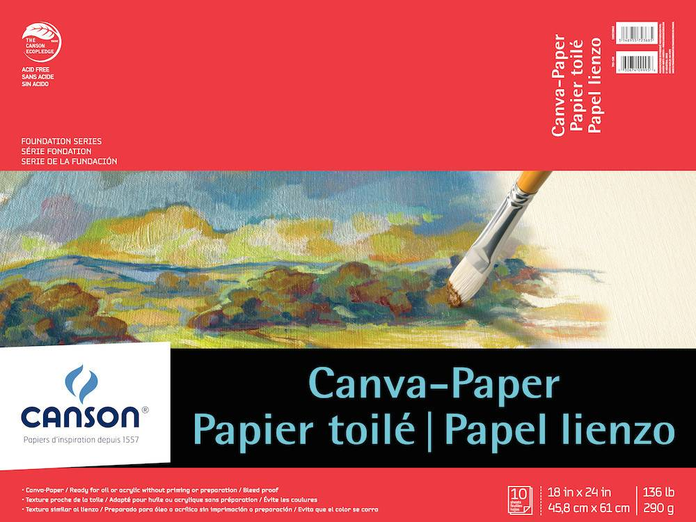 CANSON CANSON FOUNDATION CANVA-PAPER PAD