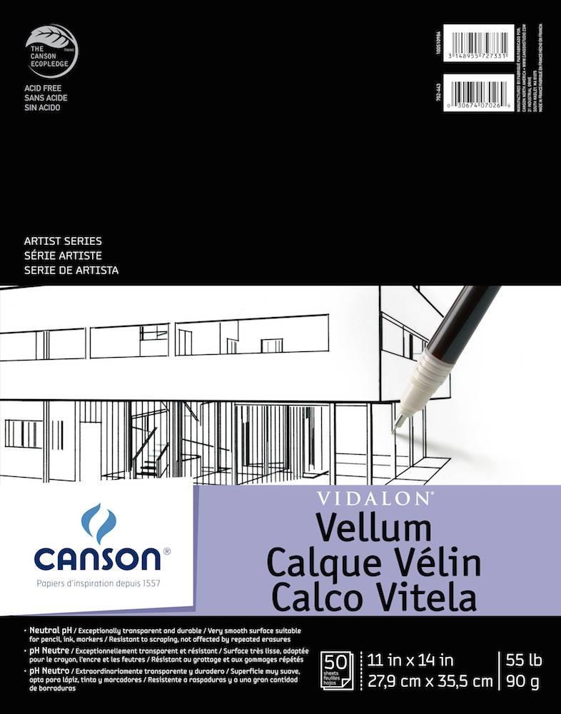 CANSON CANSON ARTIST SERIES VIDALON VELLUM PAD