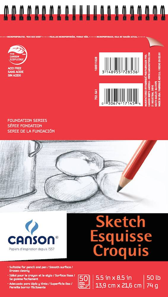 CANSON CANSON FOUNDATION SKETCH PAD 50lb