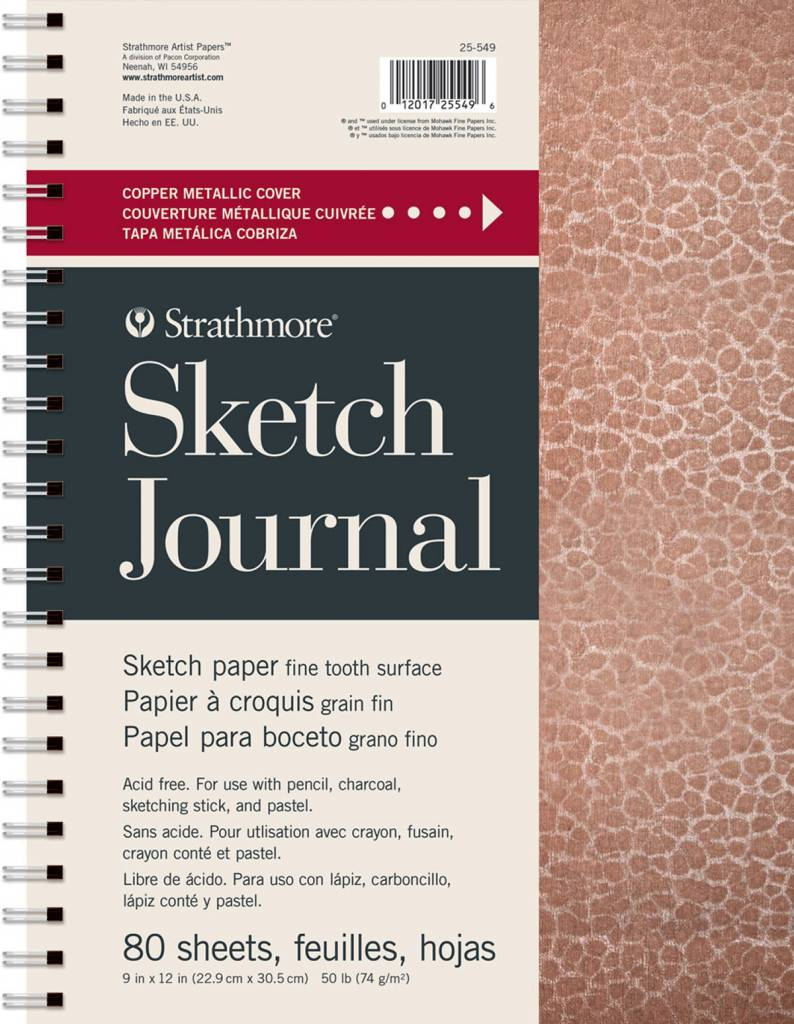 """STRATHMORE STRATHMORE ARTIST PAPERS METALLIC COPPER 9X12"""" SKETCH JOURNAL 80 SHEET BOOK"""