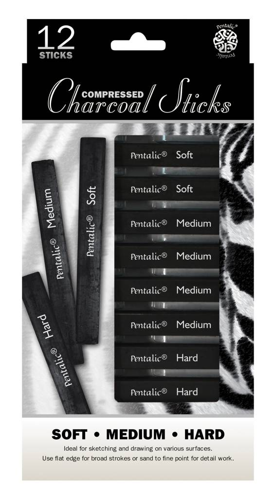 PENTALIC COMPRESSED CHARCOAL STICKS