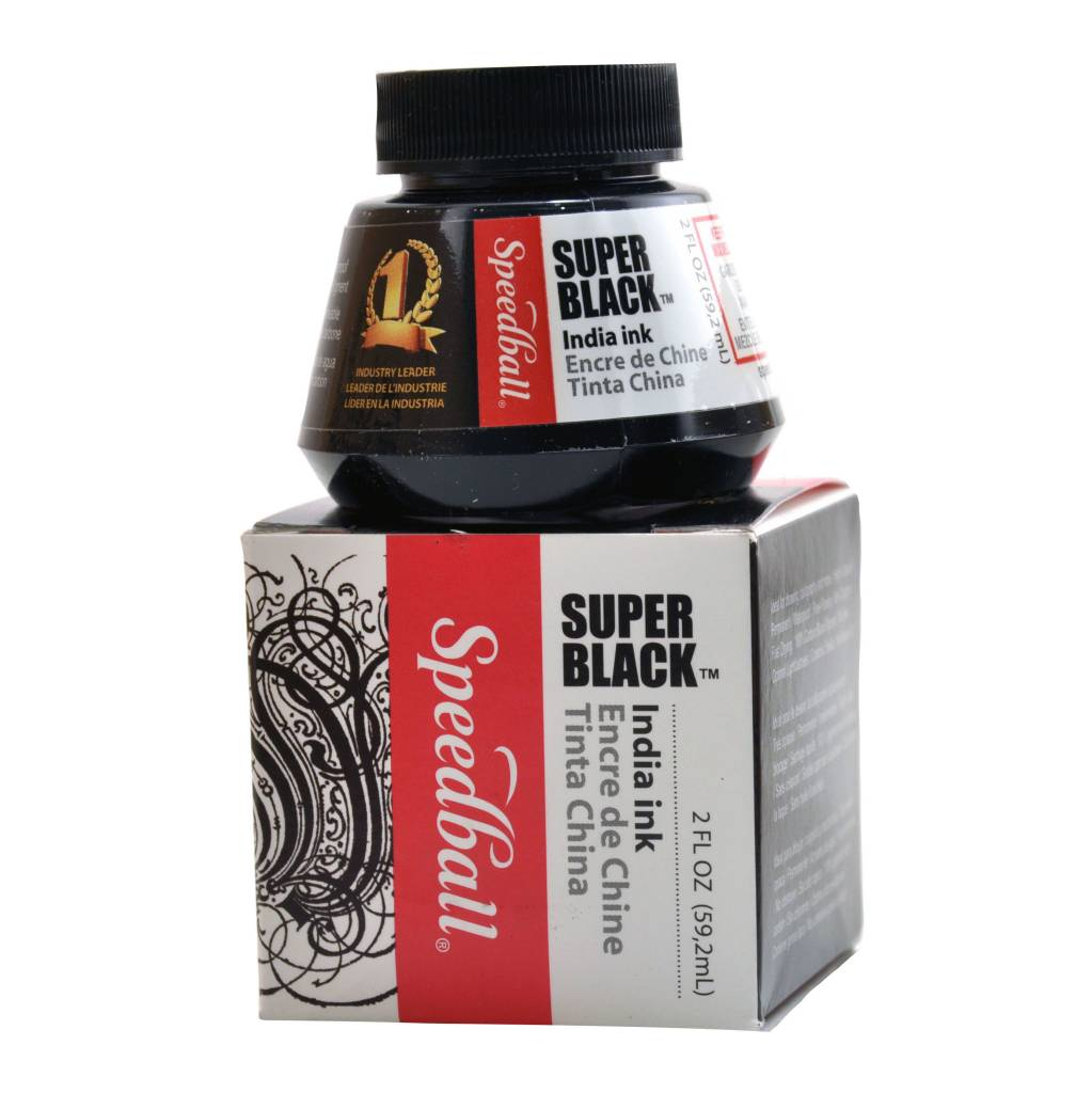 SPEEDBALL INC SPEEDBALL SUPER BLACK INDIA INK 2OZ