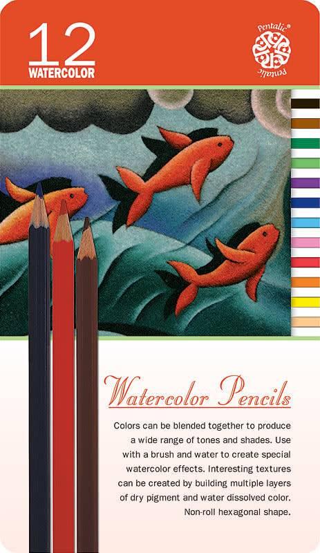 PENTALIC PENTALIC WATERCOLOUR PENCIL SET/12