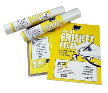 FRISKET FILM MATTE LOW-TACK 12''X4YD