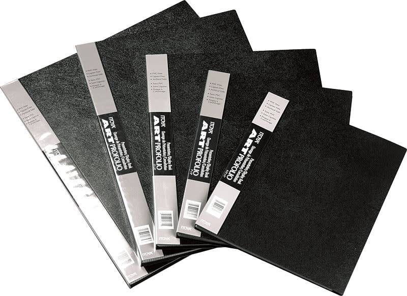 "Itoya Black 8.5"" x 11"" Art Profolio 12 Page Pack"
