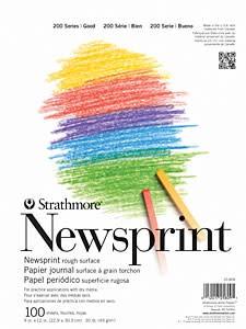 STRATHMORE STRATHMORE 9X12 32# ROUGH NEWSPRINT 100/