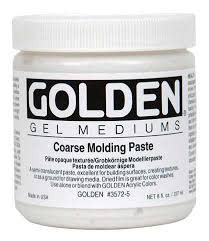 GOLDEN GOLDEN COARSE MOLDING PASTE