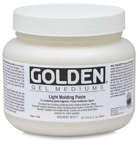GOLDEN GOLDEN LIGHT MOLDING PASTE