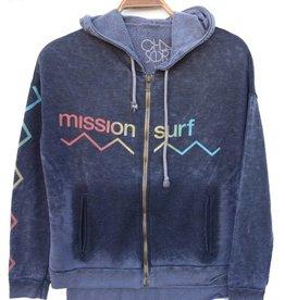 MISSION SURF WAVE BURNOUT ZIP HOODIE W's