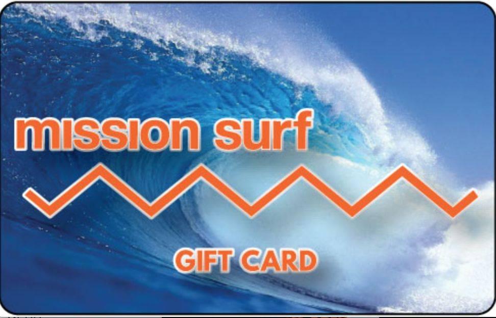 Mission Surf GIFT CARD $10