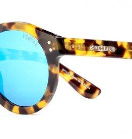 Vestal VESTAL NAPLES - BLACK AND GOLD CHUNKY TORT/BLUE MIRROR