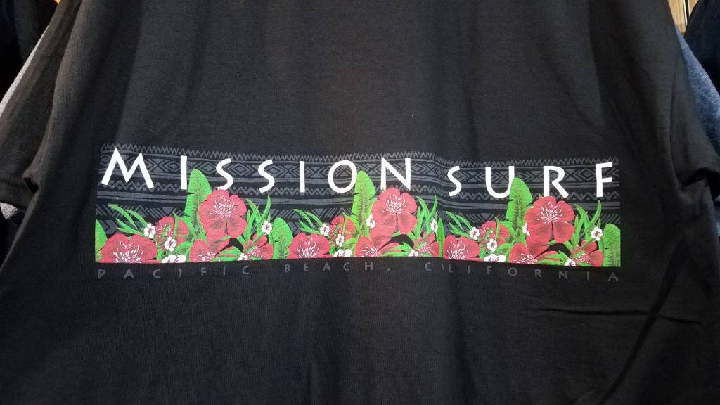 Mission Surf SURF BAND - RED FLORAL L/S TEE