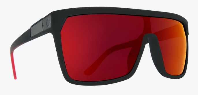 Spy Optic SPY FLYNN SOFT MATTE BLACK / RED FADE HAPPY GREY GREEN RED FLASH