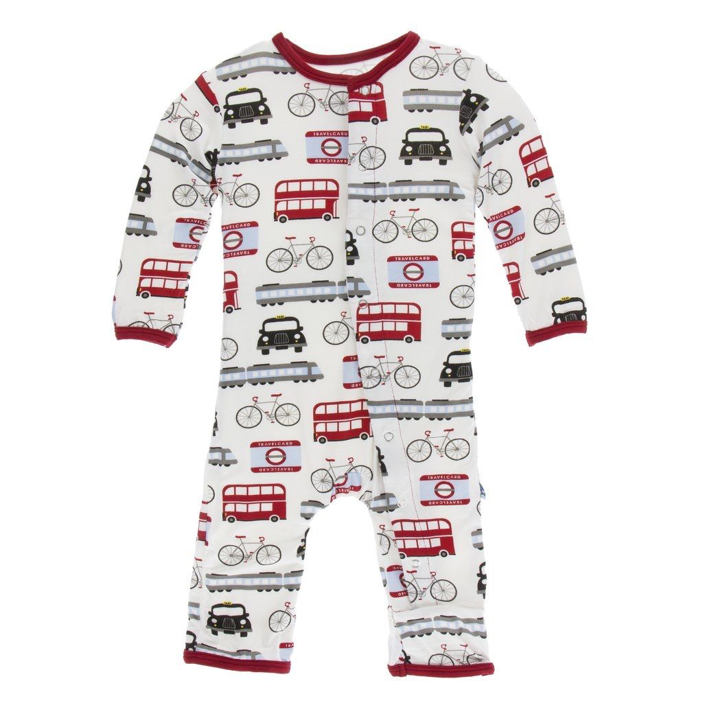 Kickee Pants Kickee Pants London Coverall w/snaps