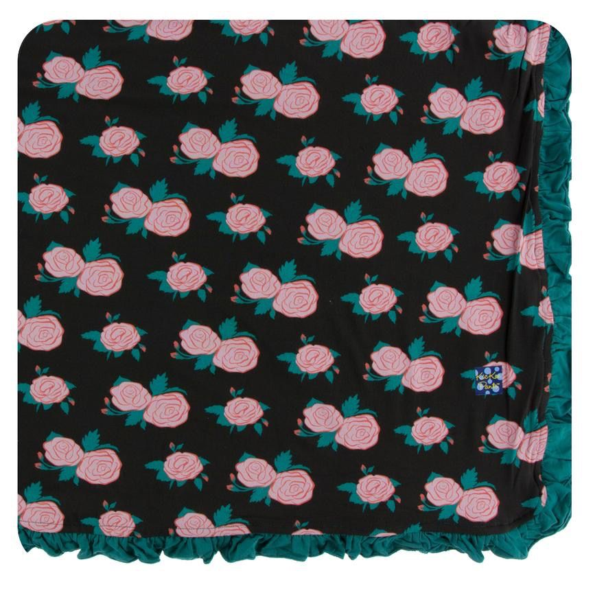 Kickee Pants Kickee Pants London Ruffle Toddler Blanket - English Rose Garden