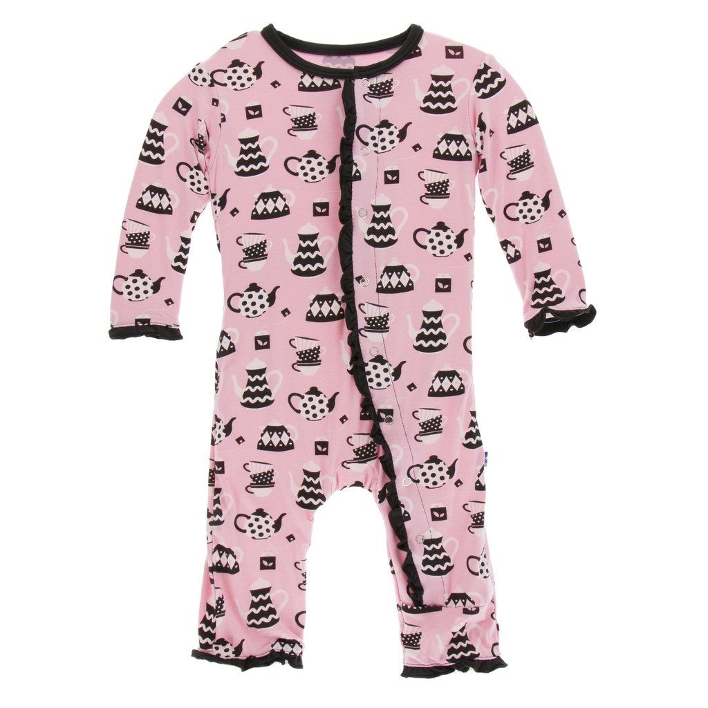 Kickee Pants Kickee Pants London Muffin Ruffle Coverall w/snaps