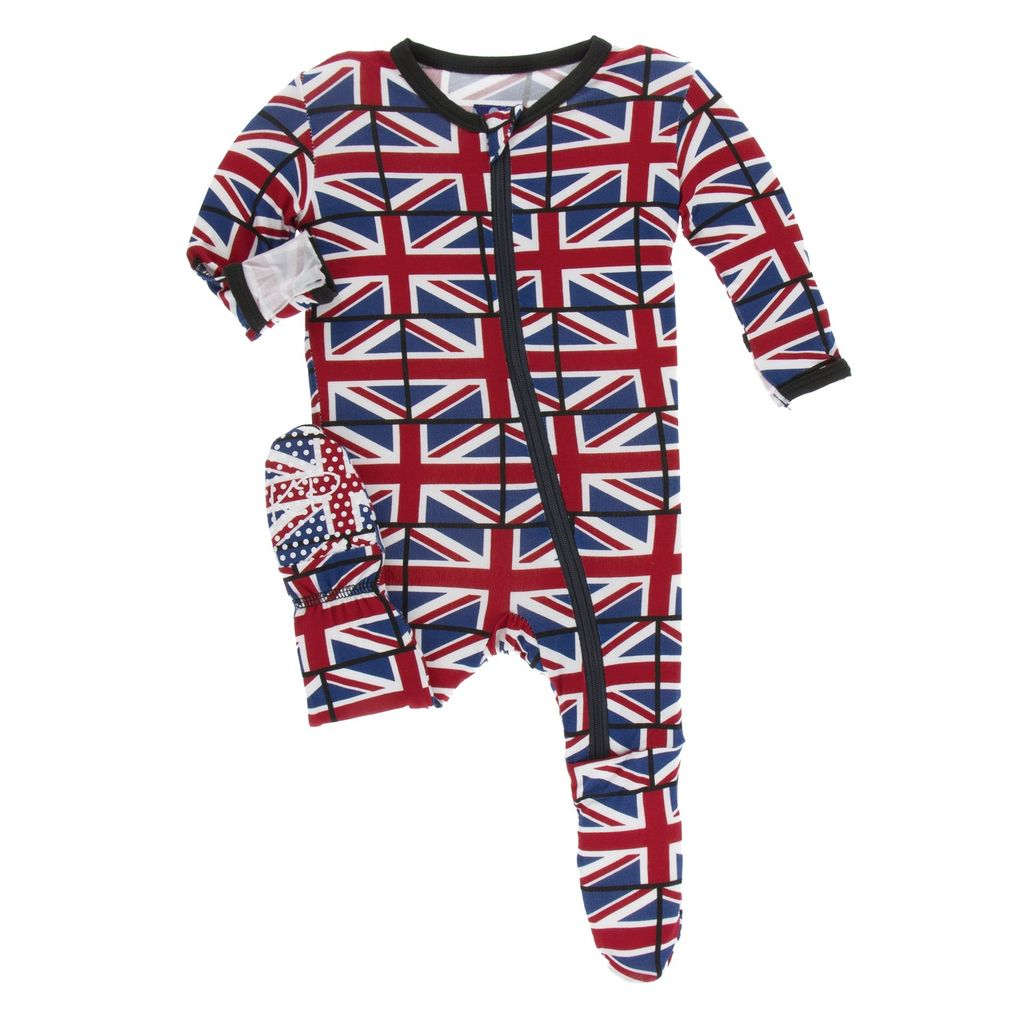 Kickee Pants Kickee Pants London Footie w/zipper