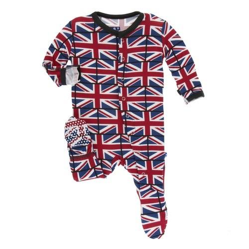 Kickee Pants Kickee Pants London Footie w/snaps