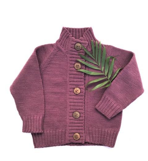 Nooks Nooks Hand-Knit Wool Cardigan
