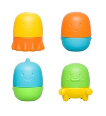 Ubbi Ubbi Squeeze and Switch Bath Toys - 4 pack